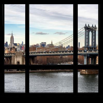 View from the Window - NYC City Bridge-Philippe Hugonnard-Photographic Print
