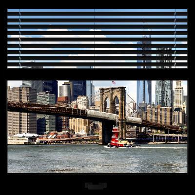 View from the Window - NYC Skyline and Brooklyn Bridge-Philippe Hugonnard-Photographic Print