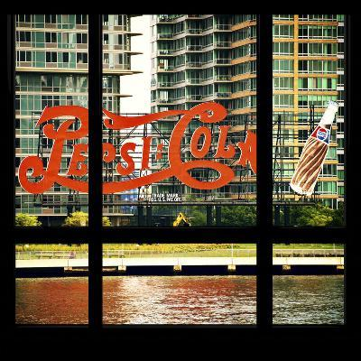View from the Window - NYC Urban Sign-Philippe Hugonnard-Photographic Print