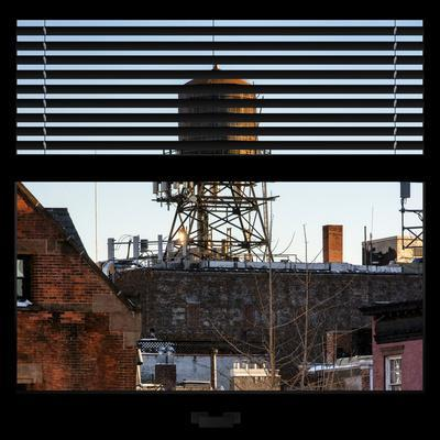 View from the Window - NYC Water Tank-Philippe Hugonnard-Photographic Print