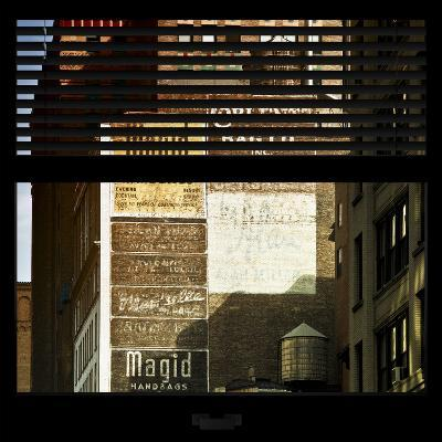 View from the Window - Old Facade - NYC-Philippe Hugonnard-Photographic Print