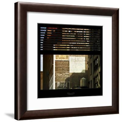 View from the Window - Old Facade - NYC-Philippe Hugonnard-Framed Photographic Print