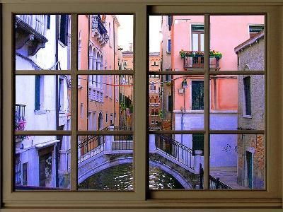 View from the Window over the Canal at Venice-Anna Siena-Giclee Print