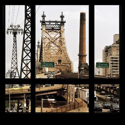 View from the Window - Queensboro Bridge Traffic-Philippe Hugonnard-Photographic Print
