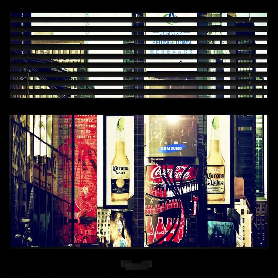 View from the Window - Times Square Buildings-Philippe Hugonnard-Photographic Print