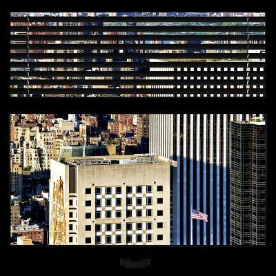 View from the Window - Upper Manhattan Building-Philippe Hugonnard-Photographic Print