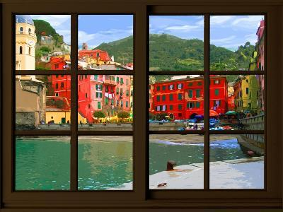 View from the Window Vernazza at Cinque Terre-Anna Siena-Giclee Print