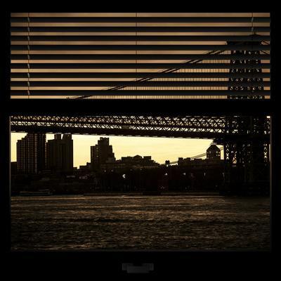 View from the Window - Williamsburg Bridge - New York-Philippe Hugonnard-Photographic Print
