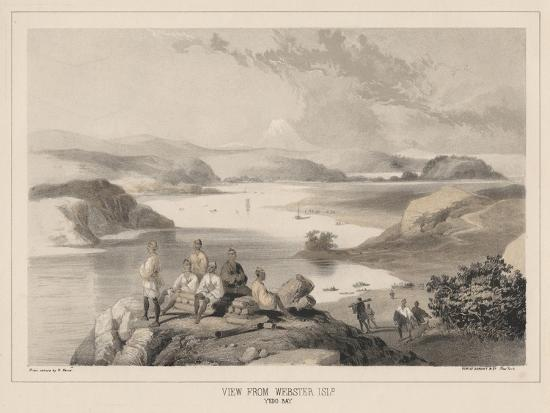 View from Webster Island, Yedo Bay, Litho by Sarony and Co., 1855-Peter Bernhard Wilhelm Heine-Giclee Print