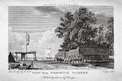 View from Woolwich Warren, Kent, 1794-Thomas Tagg-Giclee Print