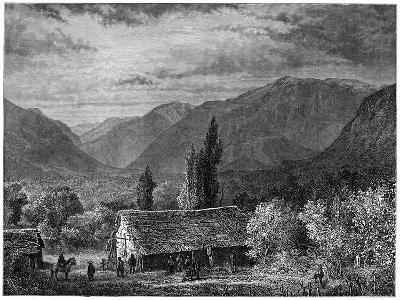 View in a Valley of the Cordillera, Chile, 1877--Giclee Print