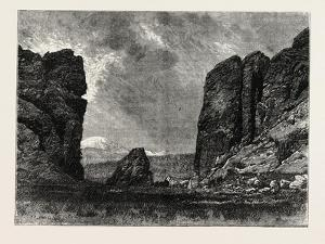 View in Colorado: the Gate of the Garden of the Gods, USA, 1870S