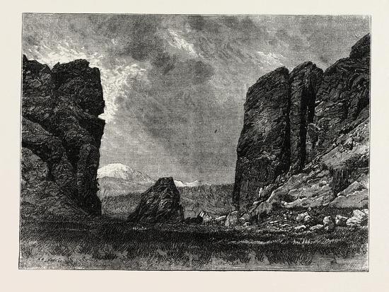 View in Colorado: the Gate of the Garden of the Gods, USA, 1870S--Giclee Print