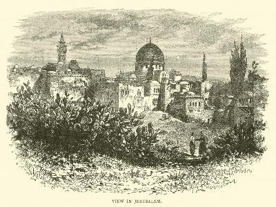 View in Jerusalem--Giclee Print