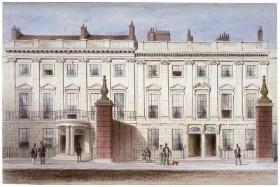View in Lincoln's Inn Fields Showing Lindsey House, Holborn, London, C1835-Thomas Hosmer Shepherd-Giclee Print