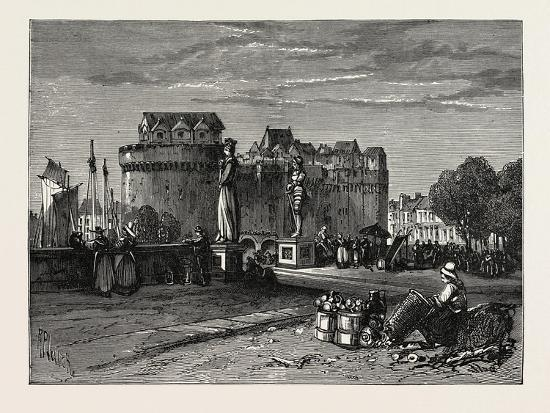 View in Nantes, on the Loire, France--Giclee Print