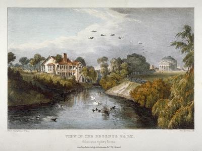 View in Regent's Park, St Marylebone, London, C1830-Thomas Mann Baynes-Giclee Print