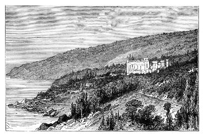 View in the Crimea: the Palace Woronzow, Alupka, Ukraine, C1888--Giclee Print
