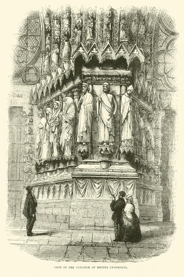View in the Interior of Rheims Cathedral, September 1870--Giclee Print