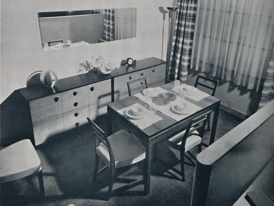 'View in the living-dining room designed by Gilbert Rohde', 1936-Unknown-Photographic Print