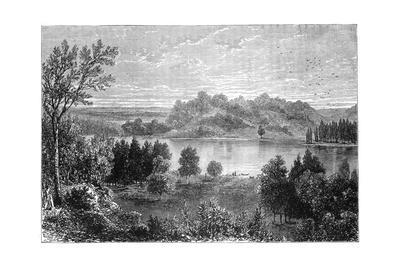 View in the Valley of the Upper Mississippi, 1877--Giclee Print