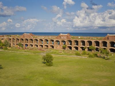 View Inside the Courtyard of Fort Jefferson, Dry Tortugas-Mike Theiss-Photographic Print