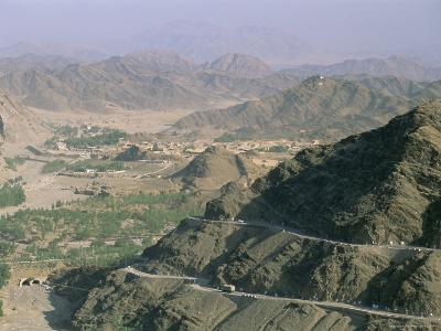 View into Afghanistan from the Khyber Pass, North West Frontier Province, Pakistan, Asia-Upperhall Ltd-Photographic Print