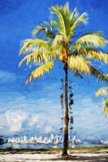 View Miami - In the Style of Oil Painting-Philippe Hugonnard-Giclee Print