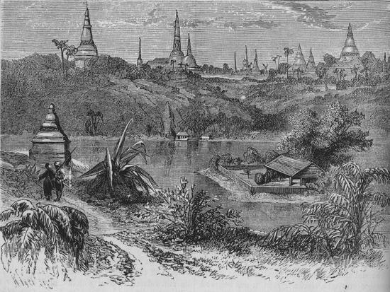'View near Rangoon', c1880-Unknown-Giclee Print