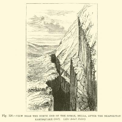 View Near the North End of the Gorge, Bella, after the Neapolitan Earthquake, 1857--Giclee Print