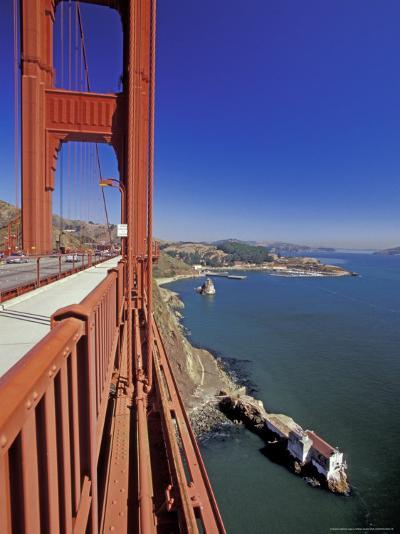 View North from Golden Gate Bridge, San Francisco, California, USA-William Sutton-Photographic Print