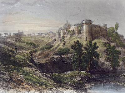 View of a Castle, France 19th Century--Giclee Print