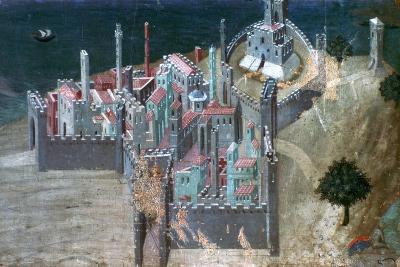 View of a Coastal City, C1300-1348-Ambrogio Lorenzetti-Giclee Print