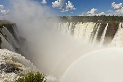 View of a Double Rainbow from Iguazu Falls' Devil's Throat Overlook-Ralph Lee Hopkins-Photographic Print