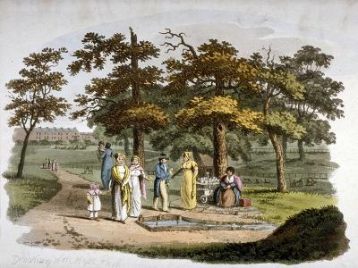 View of a Drinking Well, Hyde Park, Westminster, London, 1812-William Pickett-Giclee Print