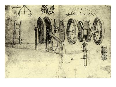 View of a Hoist-Leonardo da Vinci-Giclee Print