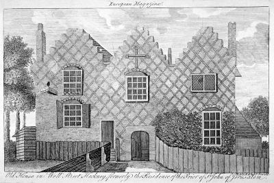 View of a House in Wells Street, Hackney, London, C1800--Giclee Print