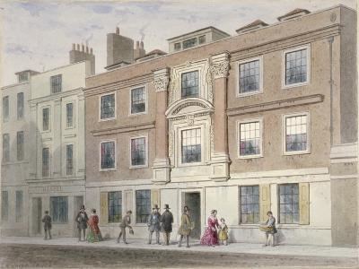 View of a Mansion in Great Winchester Street, City of London, 1841-Thomas Hosmer Shepherd-Giclee Print