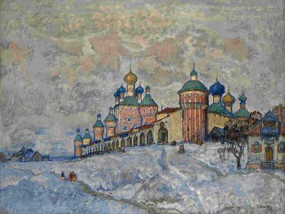 View of a Monastery, 1933-Konstantin Ivanovich Gorbatov-Giclee Print