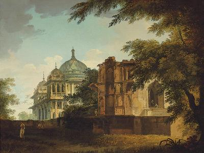 View of a Mosque at Mounheer (Maner)-William Hodges-Giclee Print