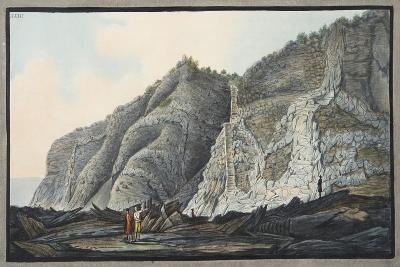 View of a Part of the Inside of the Cone of the Mountain of Somma-Pietro Fabris-Giclee Print