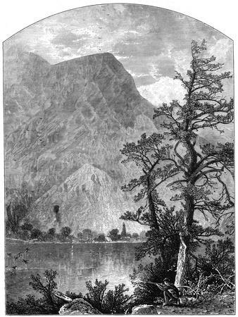 View of a Spur of the Blue Mountains, Delaware Water Gap, New Jersey, USA, 1877--Giclee Print