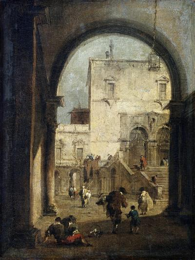 View of a Square and a Palace, Between 1775 and 1780-Francesco Guardi-Giclee Print