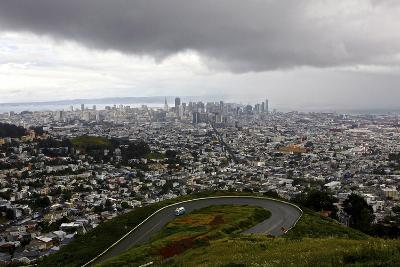 View of a Storm Approaching San Francisco from the Top of Twin Peaks-Jill Schneider-Photographic Print
