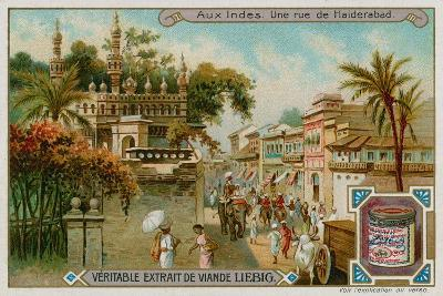 View of a Street in Hyderabad--Giclee Print