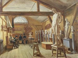 View of a Studio in an Art School, C.1840