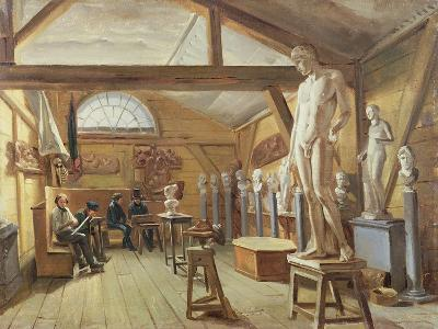 View of a Studio in an Art School, C.1840--Giclee Print