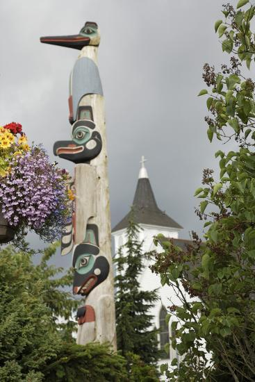 View of a Totempole in Downtown Ketchikan, Alaska-Design Pics Inc-Photographic Print