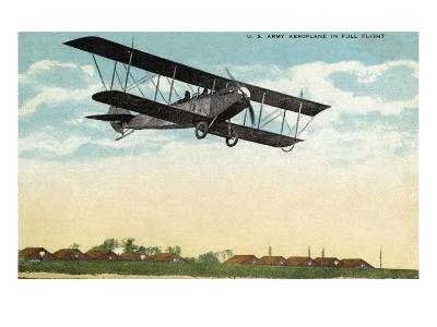 View of a US Army Aeroplane in Flight-Lantern Press-Art Print