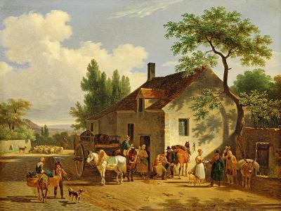 View of a Village, 1839-Jean Francois Demay-Giclee Print